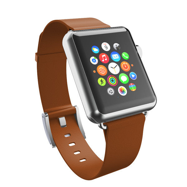 Incipio Premium Leather Band for Apple Watch 38mm -Chestnut