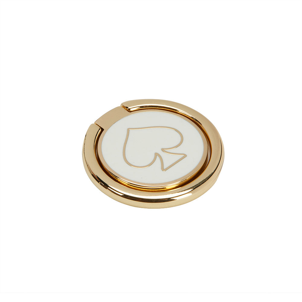 KATE SPADE NEW YORK STABILITY RING - GOLD/WHITE ENAMEL Australia Stock