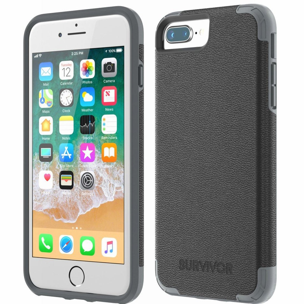 GRIFFIN SURVIVOR PRIME LEATHER CASE FOR iPHONE 8 PLUS/7 PLUS - BLACK Australia Stock