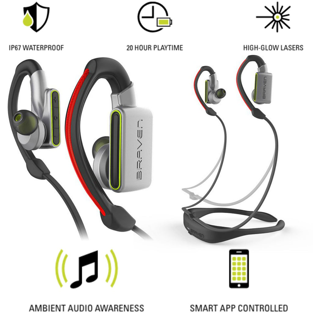 Shop Australia stock BRAVEN FLYE SPORT POWER BLUETOOTH EARBUDS - SILVER/GREEN with free shipping online. Shop BRAVEN collections with afterpay Australia Stock