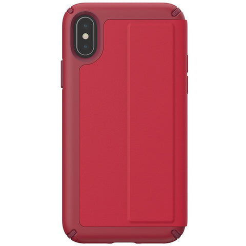 Shop Australia stock SPECK PRESIDIO CARD FOLIO LEATHER CASE FOR IPHONE XS/X - ROUGE RED with free shipping online. Shop Speck collections with afterpay
