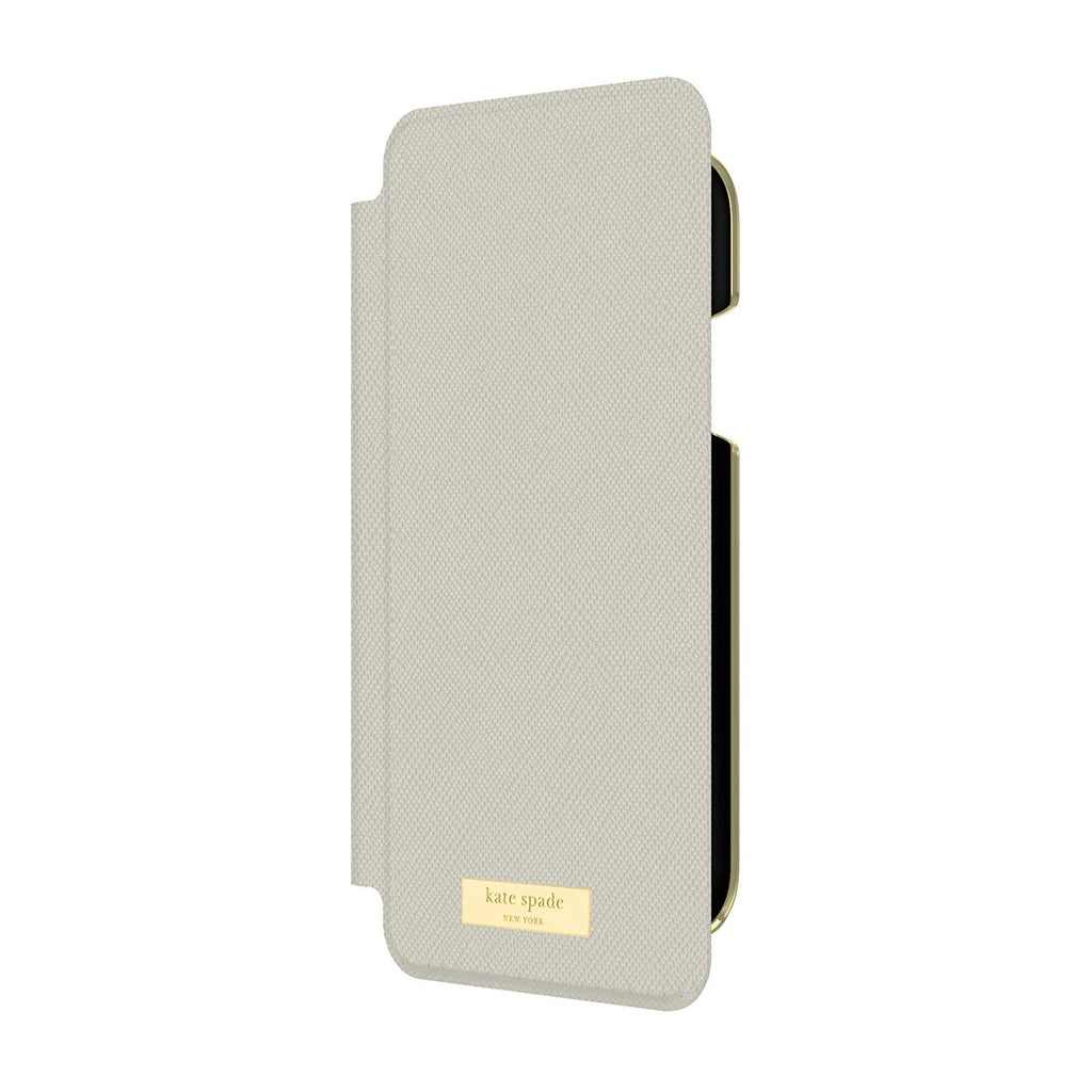 Kate Spade New York Card Folio Case for iPhone XR - Saffiano ClockTower Grey Australia Stock