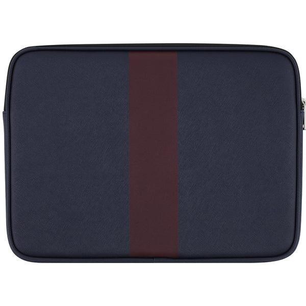buy classic and genuine jack spade new york racing stripe sleeve for macbook 13 inch - navy/burgundy stripe. Authorized online store offer free shipping australia express.