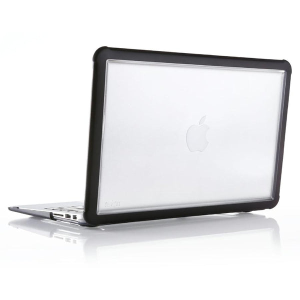 STM DUX RUGGED CASE FOR MACBOOK AIR 13-INCH (RETINA/USB-C) - BLACK/CLEAR