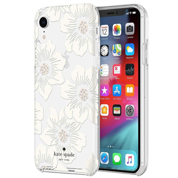 iphone xr case hardshell floral pattern white colour from kate spade australia. buy online at syntricate free shipping australia wide.
