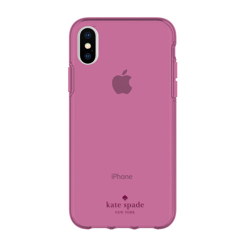 KATE SPADE NEW YORK FLEXIBLE CASE FOR IPHONE XS/X - PURPLE TINTED