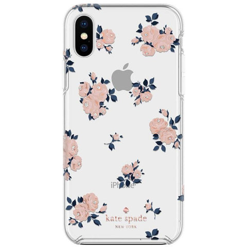 new flower design iPhone Xs & iPhone X case from kate spade, designer brand case australia stock