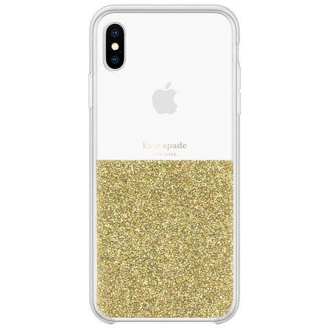 half gold glitter case for iphone xs max