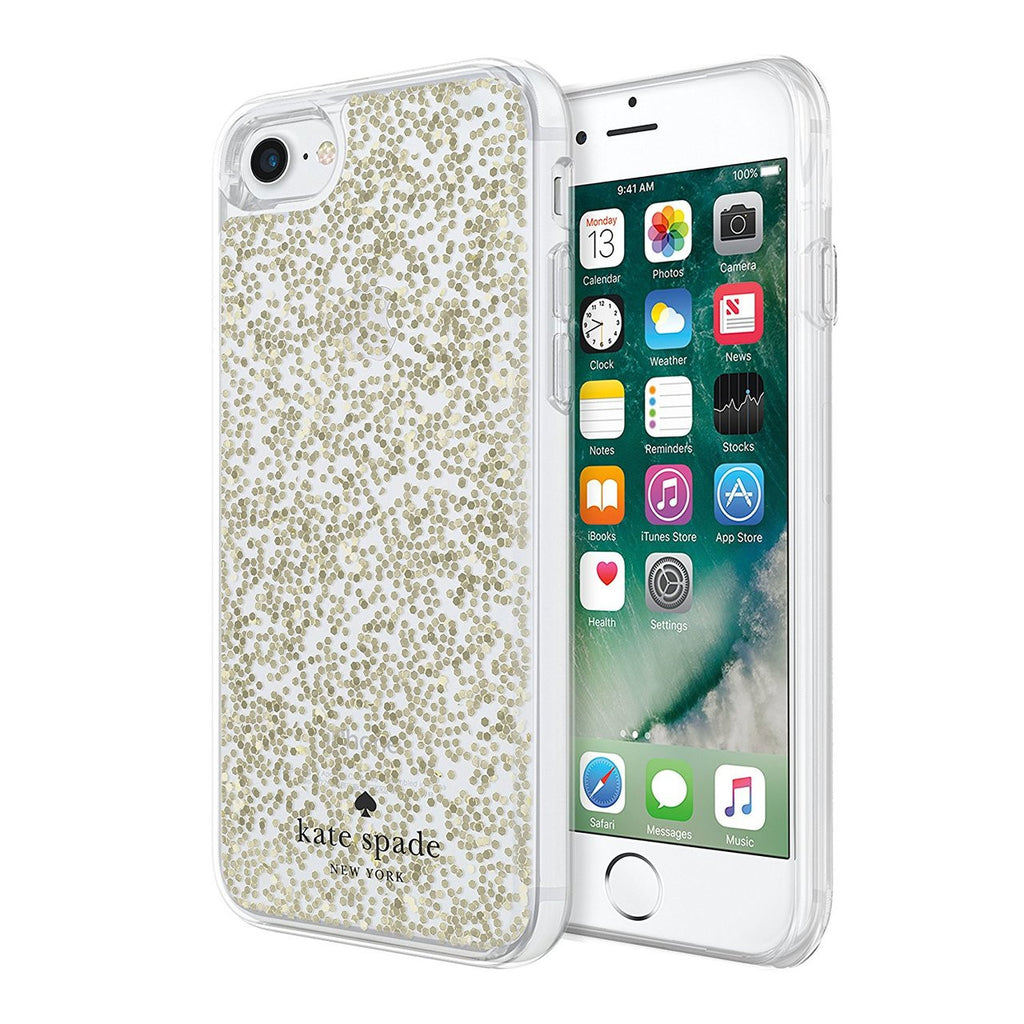 buy genuine and original Kate Spade New York Protective Clear Glitter Case for iPhone 8/7 - Gold Glitter free shipping australia Australia Stock
