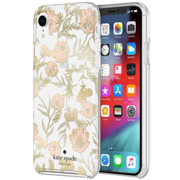 flower pattern case for iphone xr with protective hardshell.