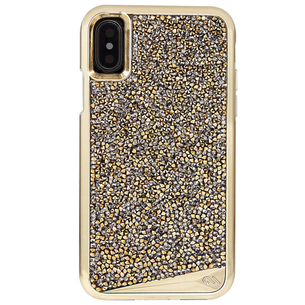 casemate brilliance tough genuine crystal case for iphone x champagne