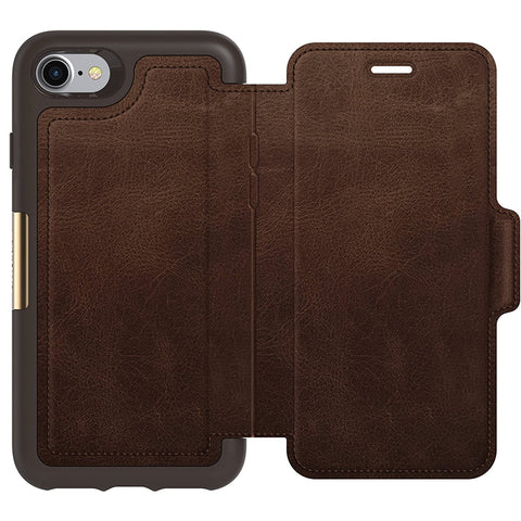 OtterBox Strada Leather Card Folio Case for iPhone 8/7 - Espresso