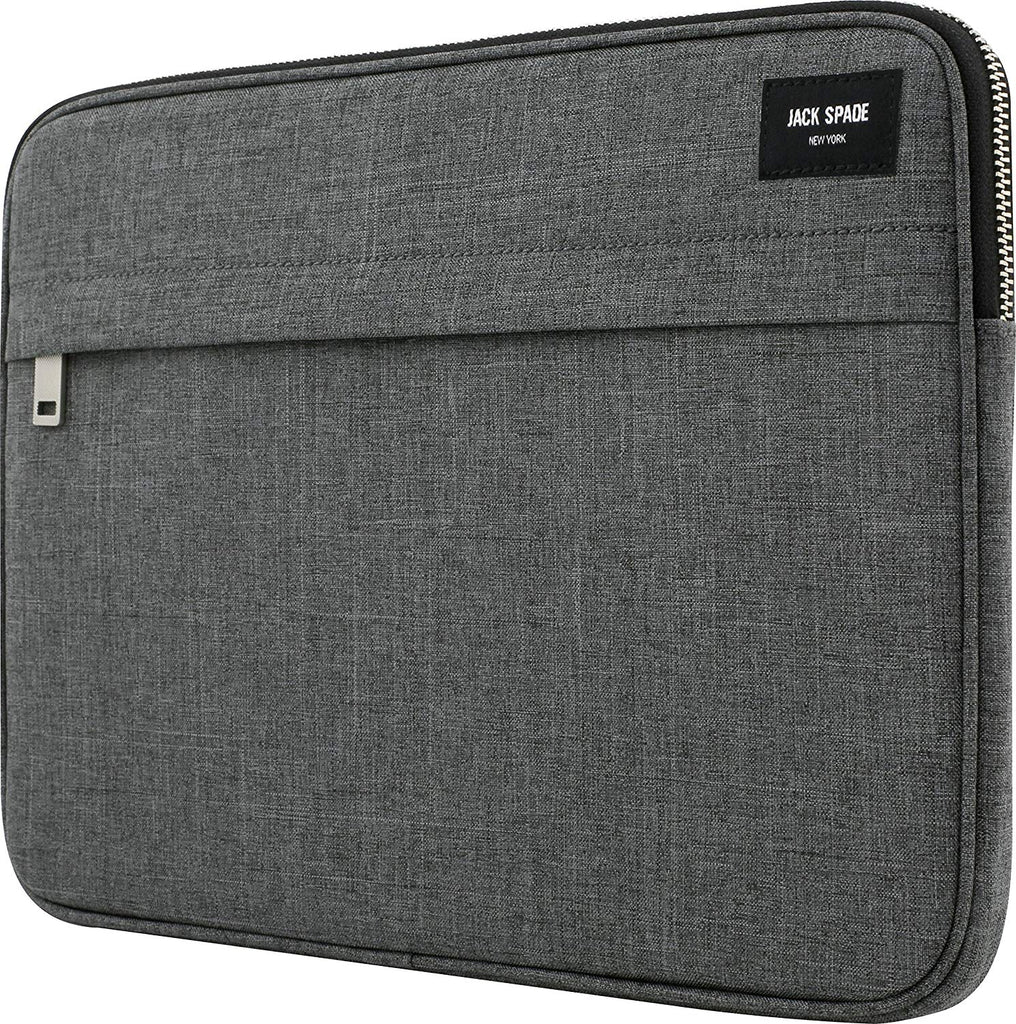 JACK SPADE NEW YORK ZIP SLEEVE CASE FOR MACBOOK UPTO 13 INCH - OXFORD GREY Australia Stock