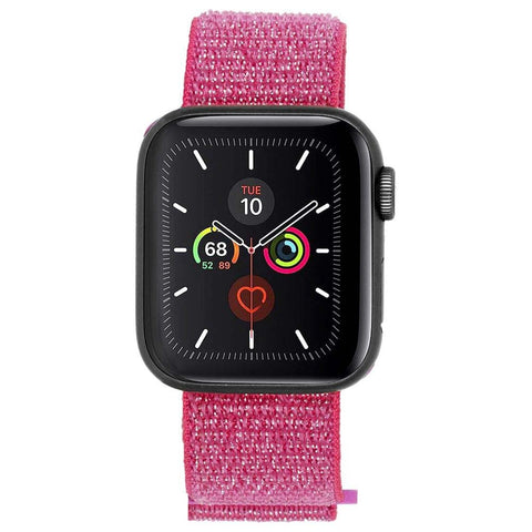 buy online with afterpay payment watch band for apple watch series 5. pink nylon band from casemate australia