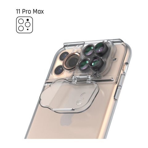 "Shop off your new iPhone 11 Pro Max (6.4"") SHIFTCAM 5-in-1 MultiLens Case - Clear authentic accessories with afterpay & Free express shipping."