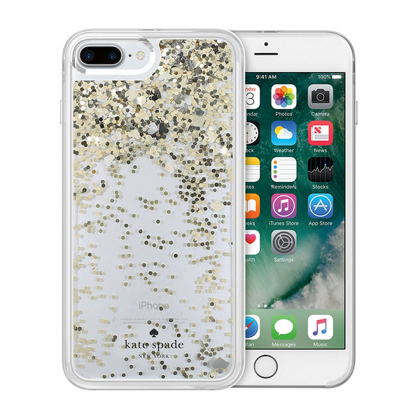 kate spade new york liquid glitter case for iphone 8 plus/7 plus