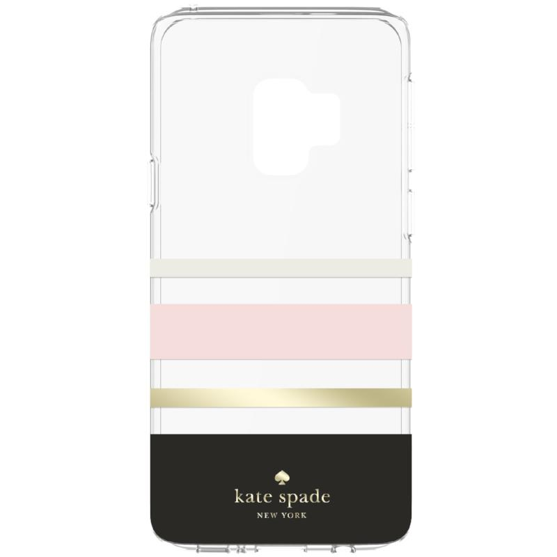 Shop Australia stock KATE SPADE NEW YORK PROTECTIVE HARDSHELL CASE FOR GALAXY S9 - CHARLOTTE STRIPE BLACK/BLUSH/GOLD FOIL with free shipping online. Shop Kate Spade New York collections with afterpay Australia Stock