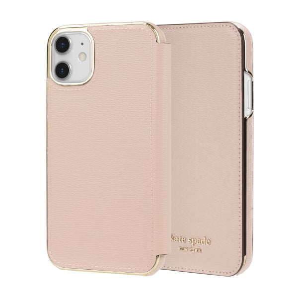"Shop Australia stock KATE SPADE NEW YORK Inlay Folio Wallet Case For iPhone 11 (6.1"") - Pale Vellum with free shipping online. Shop Syntricate collections with afterpay"
