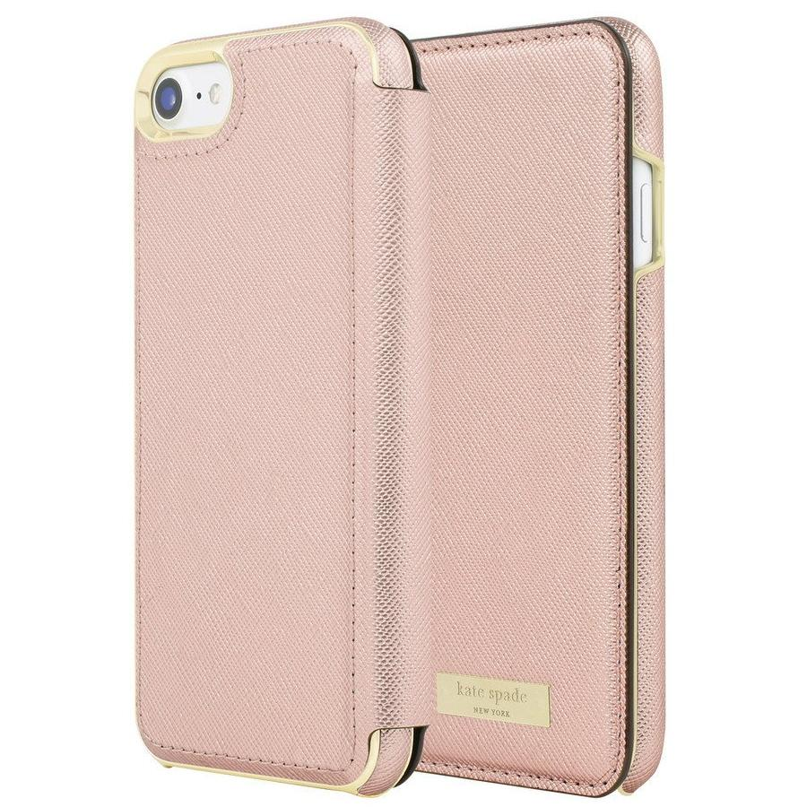 buy authentic from Kate Spade New York Card Folio Case for iPhone 8/7 - Saffiano Rose Gold authorized distributor australia Australia Stock
