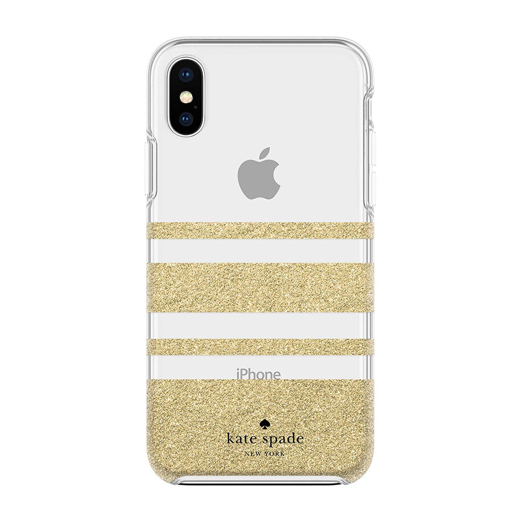 buy online new kate spade gold strype for iphone xs and iphone x australia Australia Stock