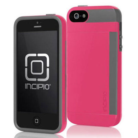 Incipio Stowaway Card Case for iPhone 5s/5/SE - Pink/Gray Australia Stock