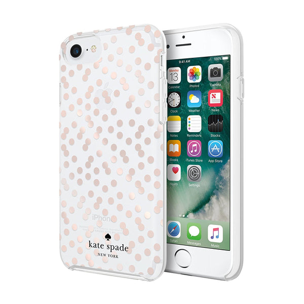 Shop Australia stock KATE SPADE NEW YORK PROTECTIVE HARDSHELL CASE FOR iPHONE 8/7/6S - ROSE GOLD DOTS/CLEAR with free shipping online. Shop Kate Spade New York collections with afterpay