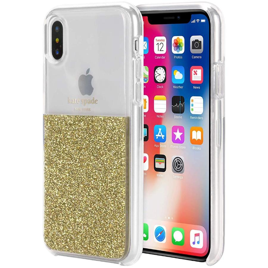 half gold iphone xs & iPhone X case from kate Spade Australia Stock