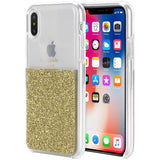 half gold iphone xs & iPhone X case from kate Spade