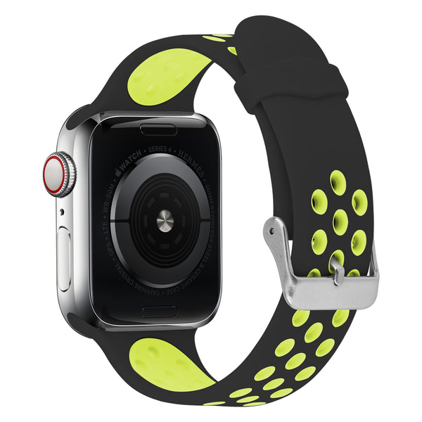 FLEXII GRAVITY Sport Silicone Band for Apple Watch Series 5/4/3/2 (44/42MM) - Black/Yellow