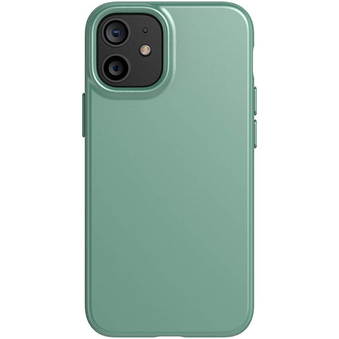 best silicone case thin design green colour from tech21 australia. protect your iphone 12 mini with tech21 best case