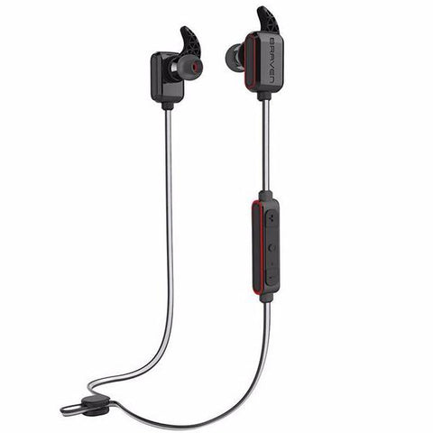 BRAVEN FLYE SPORT REFLECT WIRELESS WATER-RESISTANT EARBUDS - GREY/RED