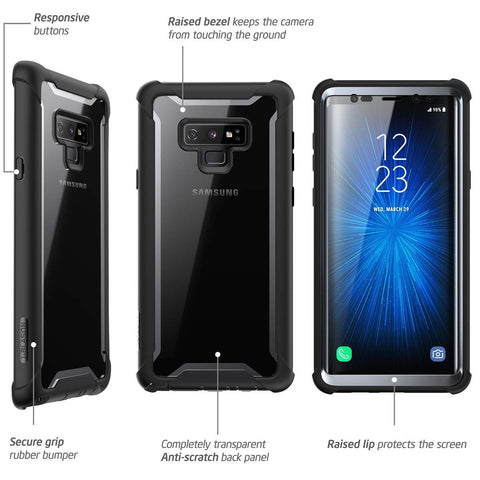 Place to buy ARES ARES FULL-BODY RUGGED CLEAR CASE FOR GALAXY NOTE 9 - BLACK/CLEAR FROM I-BLASON online in Australia free shipping & afterpay.
