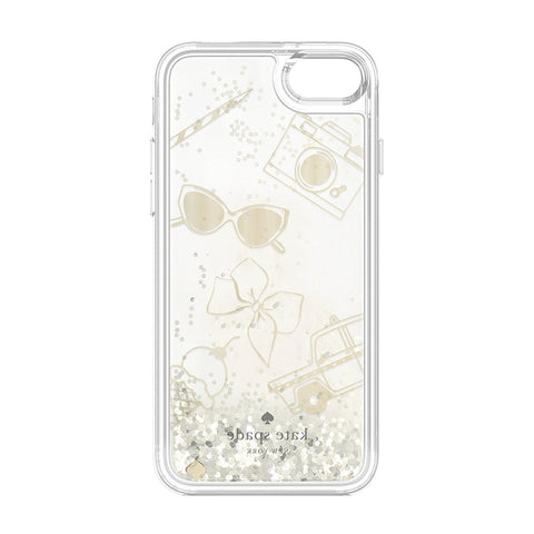 Kate Spade New York Clear Liquid Glitter Case for iPhone 8/7 - Gold / Favorite Things Australia