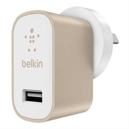 Belkin Metallic Home Wall USB Charger 2.4Amps  - Gold