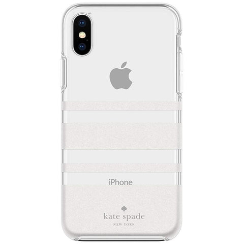 Shop Australia stock KATE SPADE NEW YORK PROTECTIVE HARDSHELL CASE FOR IPHONE XS MAX - CHARLOTTE STRIPE WHITE GLITTER/CLEAR with free shipping online. Shop Kate Spade New York collections with afterpay