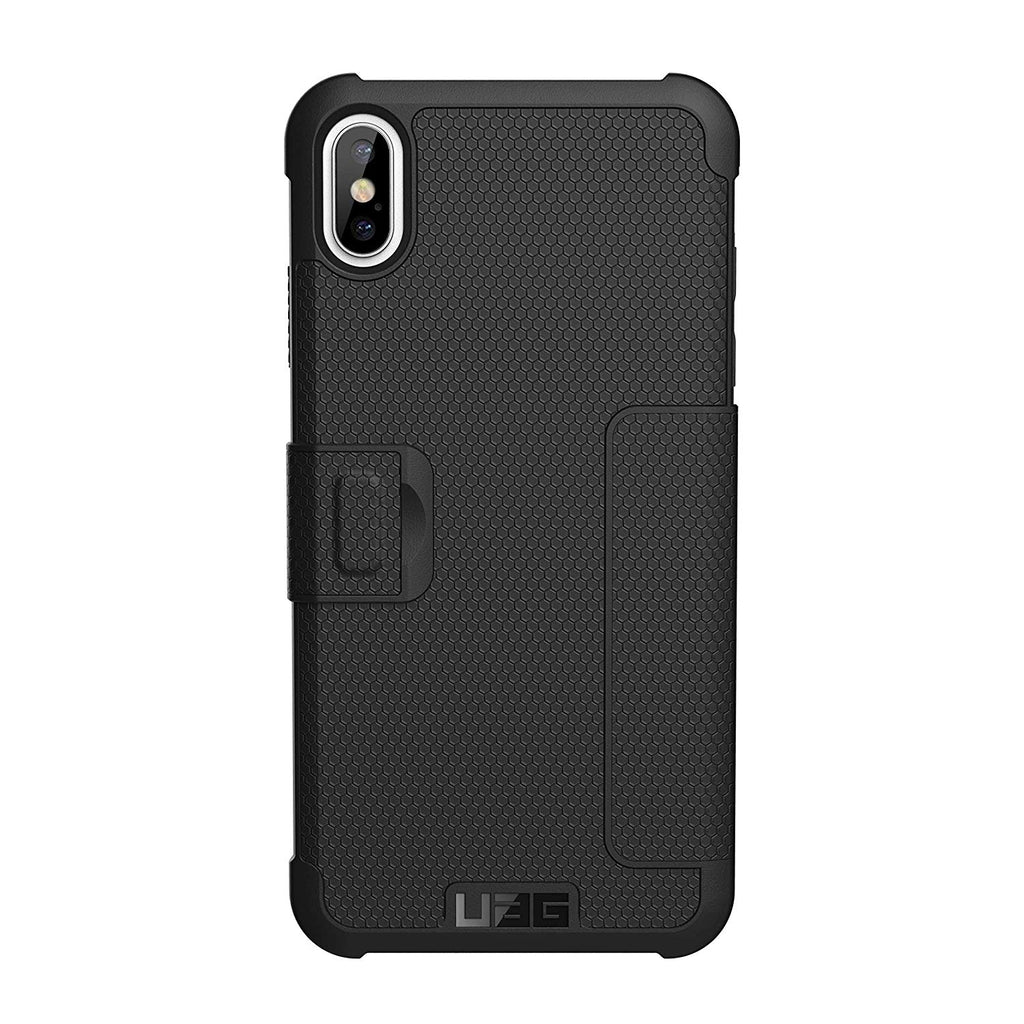 back view uag iphone xs max case black folio metropolis Australia Stock