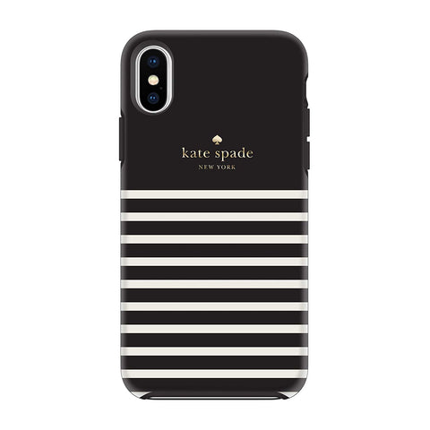 KATE SPADE NEW YORK designer stripe style case for iPhone Xs & iPhone X