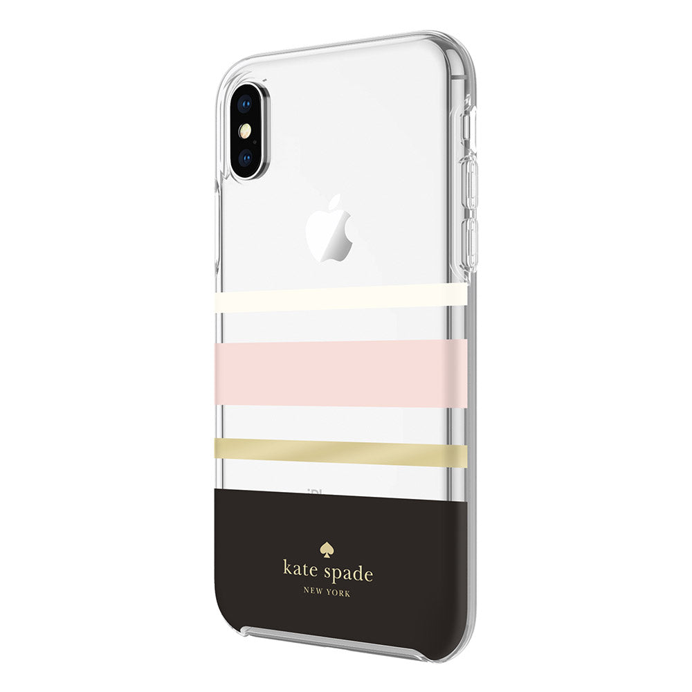 brand new ceab2 14bc0 KATE SPADE NEW YORK PROTECTIVE HARDSHELL CASE FOR IPHONE XS/X - CHARLOTTE  STRIPE
