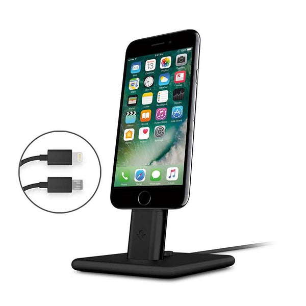 Twelve South HiRise Deluxe 2 charging stand Dock for iPhone & iPad- Black