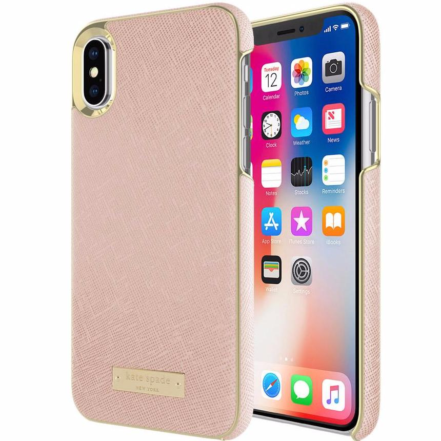Official online store of Kate Spade New York Wrap Case For Iphone X - Saffiano Rose Gold. Australia wide express shipping from authorized distributor and trusted online store Syntricate. Australia Stock