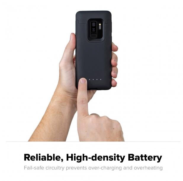 MOPHIE JUICE PACK 2070MAH WIRELESS BATTERY CASE FOR GALAXY S9+ PLUS - BLACK Australia Stock