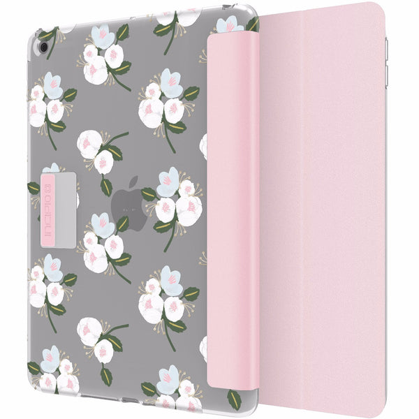 Place to buy cute floral pink grey pattern from Incipio Design Series Rigid Hard Shell Folio Case For Ipad 9.7 (2017) - Cool Blossom. Free express shipping from authorized distributor and trusted online store Syntricate.