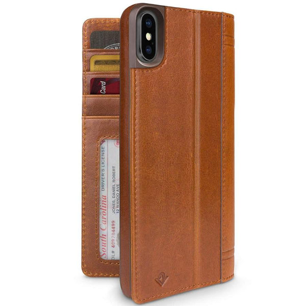 leather case with stand for iphone xs max