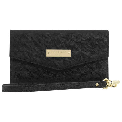 buy cute multifunction clutch Kate Spade New York Saffiano Wristlet Phone Case upto 4.7 inch - Black australia Australia Stock