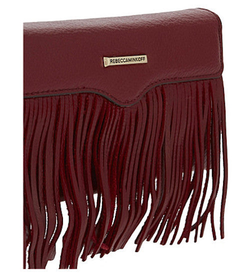 Shop Australia stock Rebecca Minkoff Universal Fringe Tech Leather Crossbody - Deep Red with free shipping online. Shop Rebecca Minkoff collections with afterpay Australia Stock