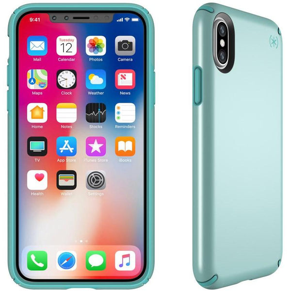 speck iphone x metalic case teal