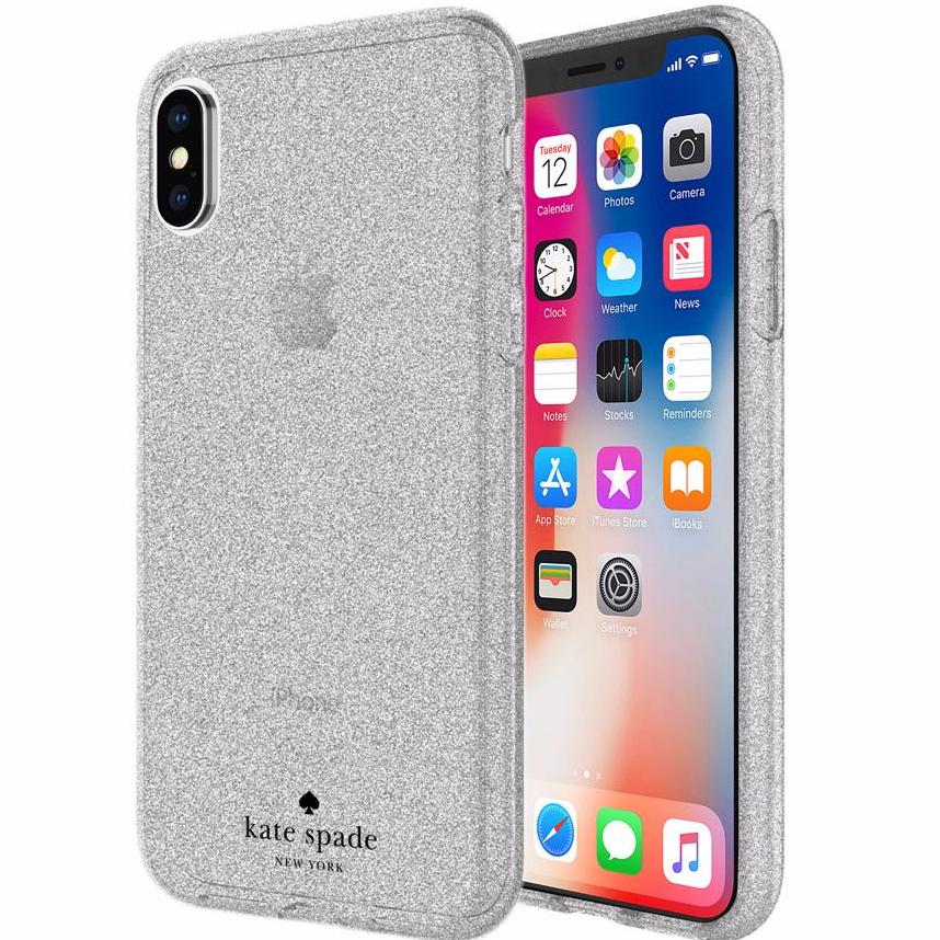 Double your confident with luxurious Kate Spade New York Flexible Glitter Case For Iphone X - Silver. Free express shipping Australia wide from authorized distributor and trusted official online store by Syntricate. Australia Stock