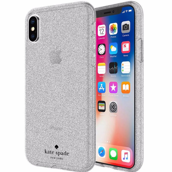 Double your confident with luxurious Kate Spade New York Flexible Glitter Case For Iphone X - Silver. Free express shipping Australia wide from authorized distributor and trusted official online store by Syntricate.