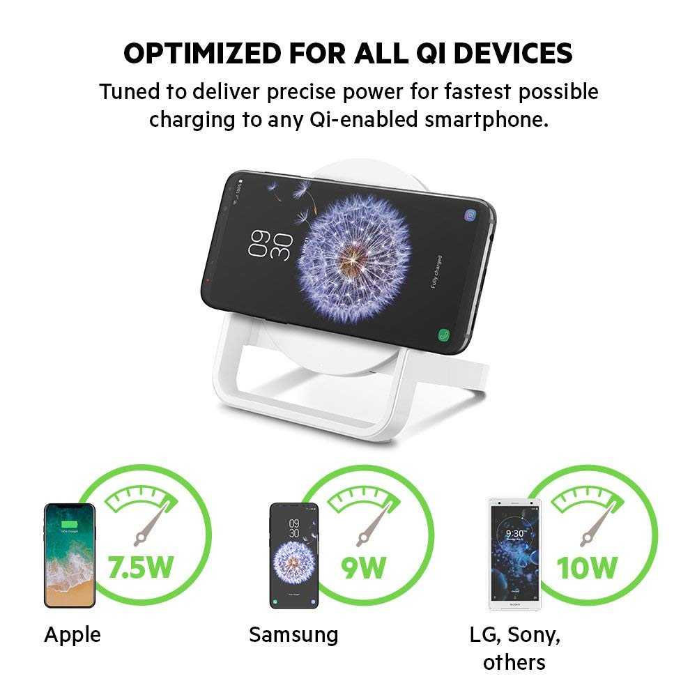 BELKIN QI BOOST UP WIRELESS 10W CHARGING STAND FOR IPHONE/SAMSUNG/LG/SONY - WHITE Australia Stock