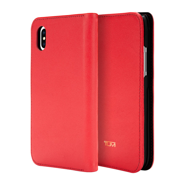 Grab it fast LEATHER WALLET CARD FOLIO CASE FOR IPHONE XS MAX - EMBER FROM TUMI with free shipping Australia wide.
